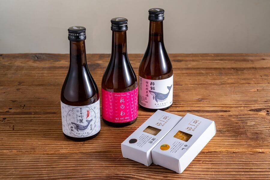 お酒が美味しい珍味豆腐&酔鯨300ml 3本セット ¥ 3,500