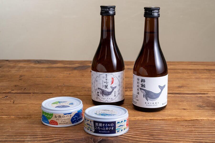 土佐の贅沢グルメ缶&酔鯨300ml 2本セット     ¥ 2,500
