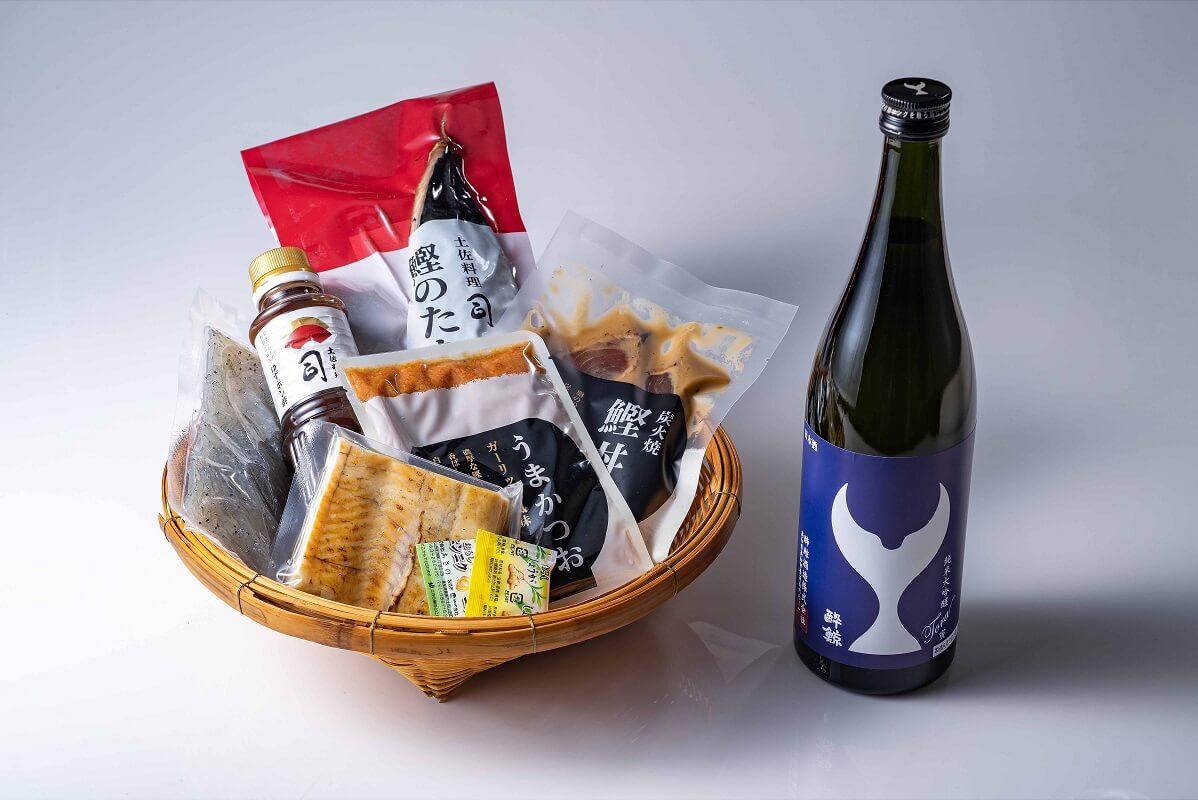 土佐郷土料理の晩酌膳と純米大吟醸 寅 ¥ 9,120